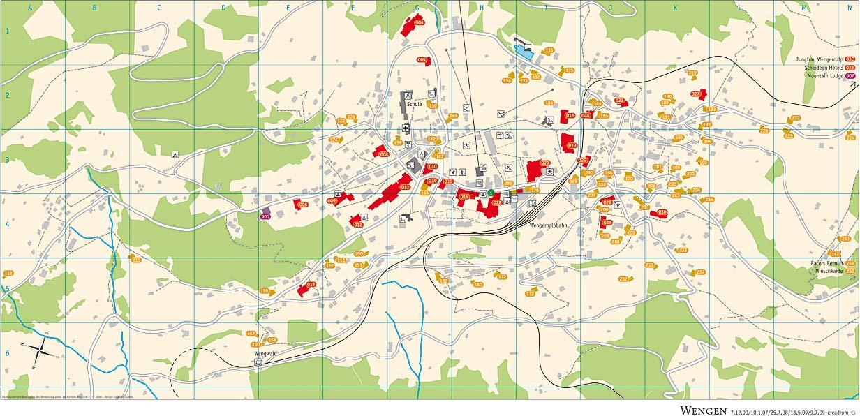 Wengen Piste Maps And Ski Resort Map Powderbeds