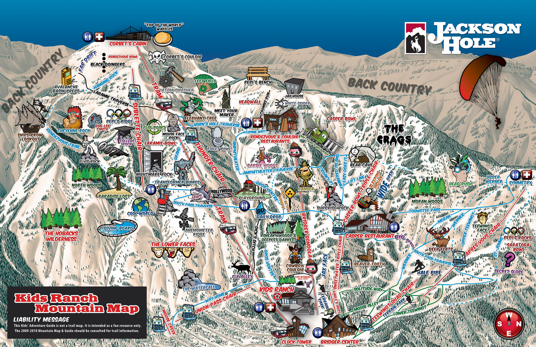 Jackson Hole Piste Maps And Ski Resort Map PowderBeds - Jackson hole us map