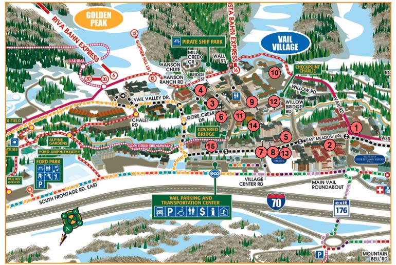 Vail Village Map Cyndiimenna