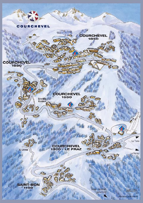 Courchevel Piste Maps and Ski Resort Map PowderBeds