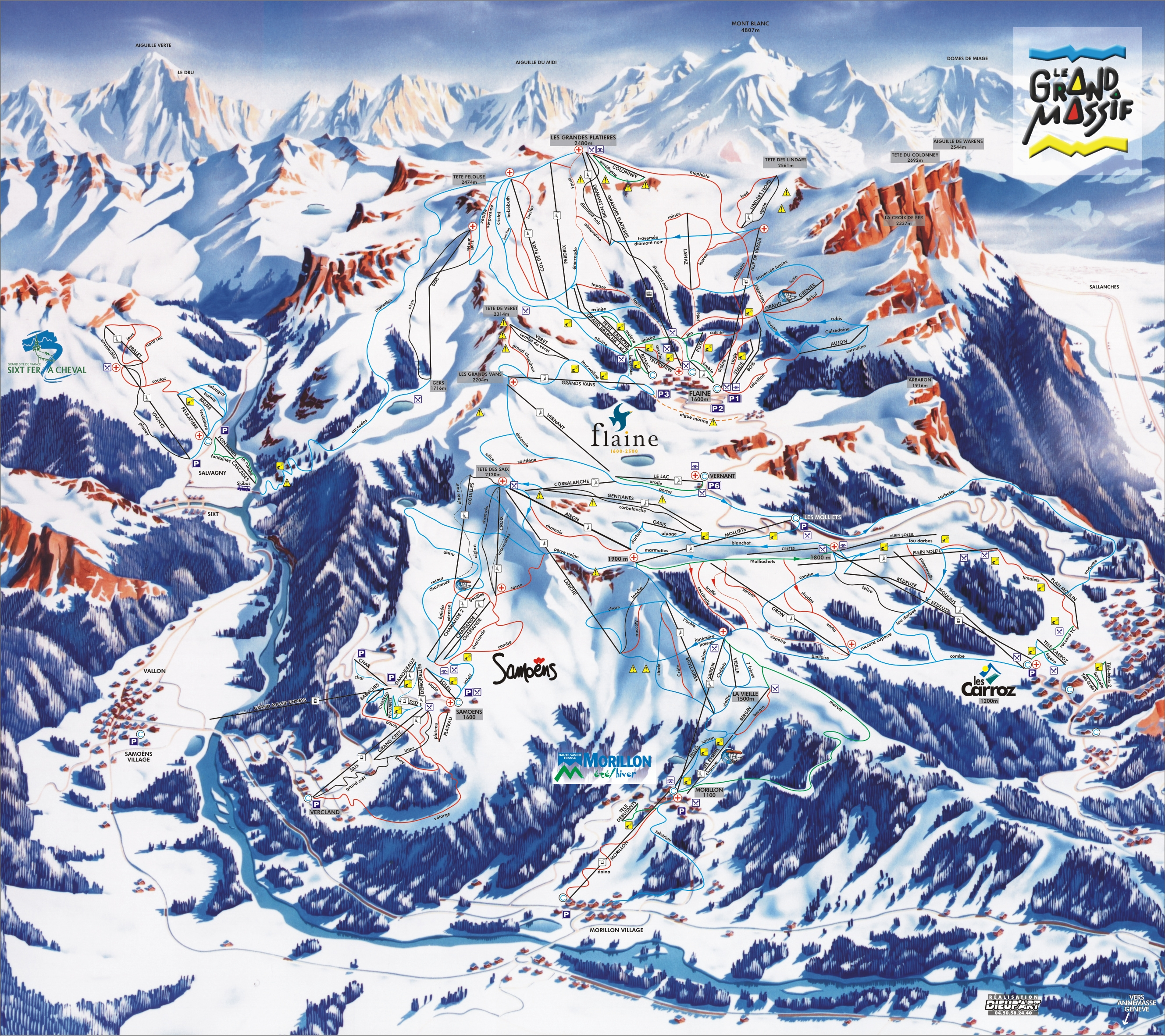 Flaine Piste Maps and Ski Resort Map | PowderBeds