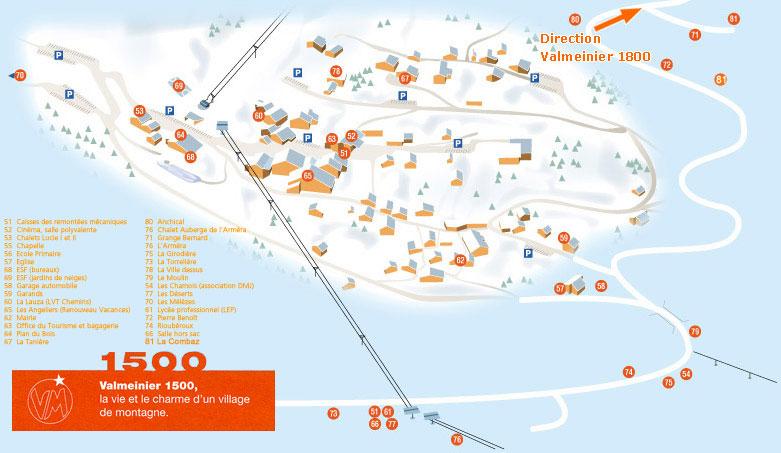 Valmeinier piste maps and ski resort map powderbeds - Office du tourisme valmeinier 1800 ...