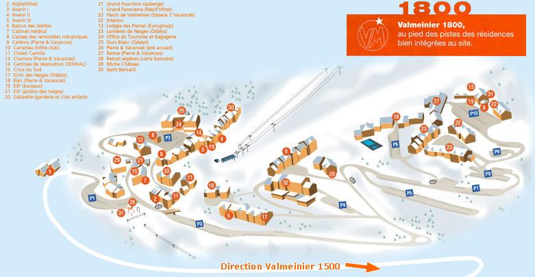Valmeinier Piste Maps And Ski Resort Map Powderbeds