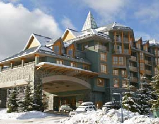 Cascade Lodge Winter Exterior