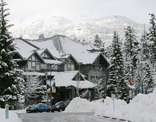 Glacier Lodge Winter Exterior