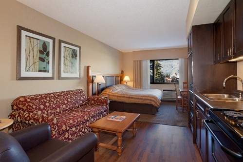 An example of a Studio Room in Blackcomb Lodge, Whistler, Canada