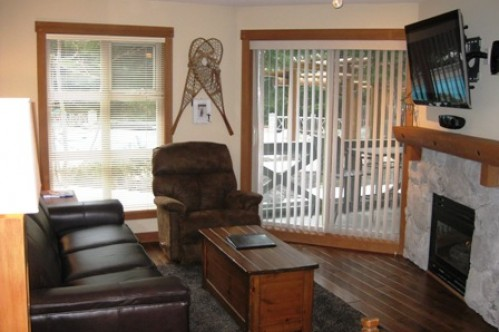 An example of the lounge of a 1 Bedroom Apartment, Lost Lake Lodge, Whistler, Canada
