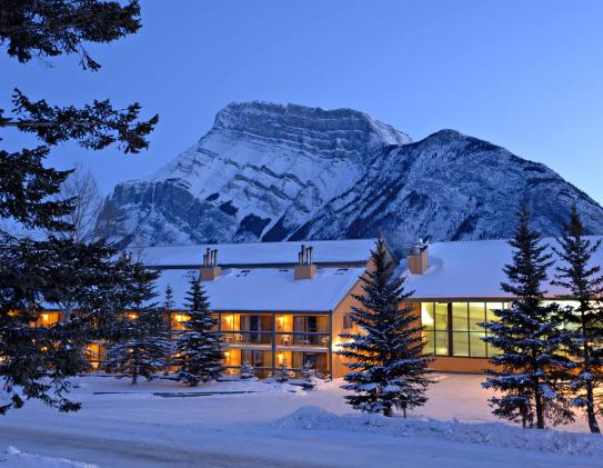 Douglas Fir Resort and Chalets in the height of winter in Banff