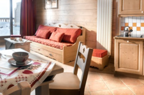 An example of a one bedroom apartment in Le Hameau de Beaufortain, Les Saisies, France
