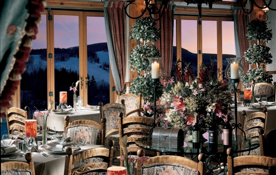 The top class restaurant at The Pines Lodge, Beaver Creek