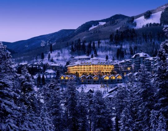 Set above Beaver Creek, The Pines Lodge sites in a beautiful location within the trees.