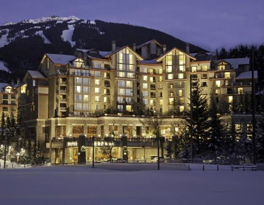 The Westin Resort and Spa in the centre of Whistler