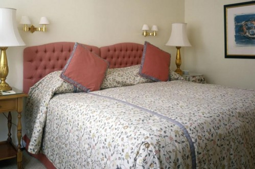 An example of a standard single room - Badrutt's Palace Hotel - St Moritz