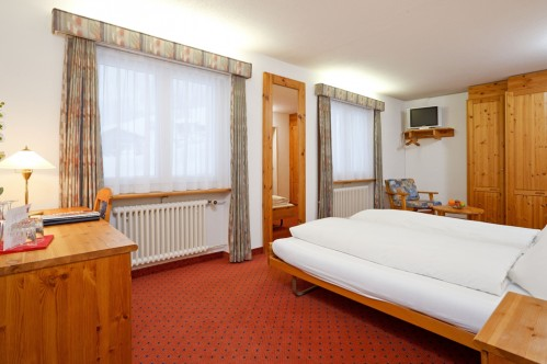 A Double or Twin Room at the Hotel Sport - Klosters