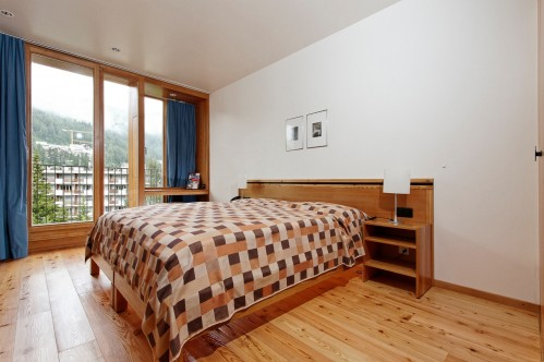 An example of a superior double room at the Hotel Laudinella, St Moritz