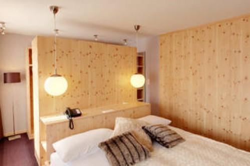 An example of a single room at the Hotel Laudinella, St Moritz