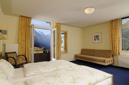 An idea of an East-Facing Room in the Hotel and Spa Victoria-Lauberhorn - Wengen