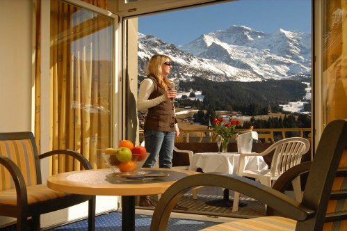 Beautiful Views over the Mountains at the Hotel and Spa Victoria-Lauberhorn - Wengen