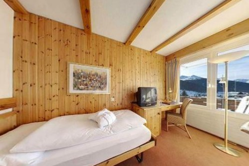 An example of a Superior Single Room at the at the Hotel Sunstar Park in Davos