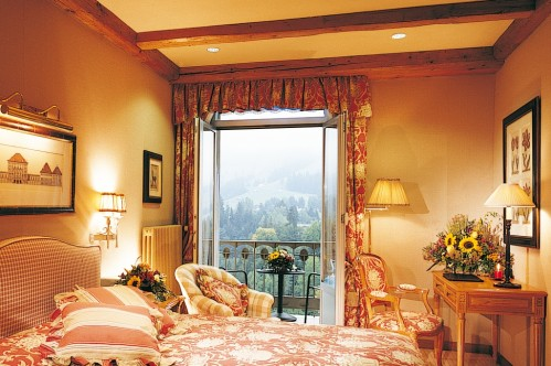 An example of a Deluxe Double Room in the Gstaad Palace