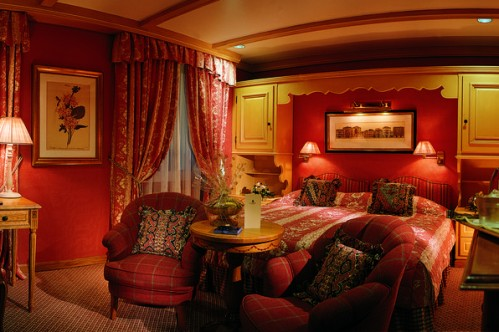 A Classic Double Room in the Gstaad Palace