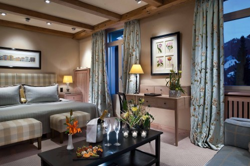 A Double Deluxe Room in the Gstaad Palace
