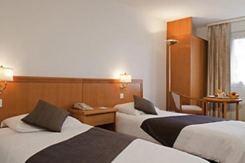 An example of a Single Room in the Mercure Classic Hotel Leysin