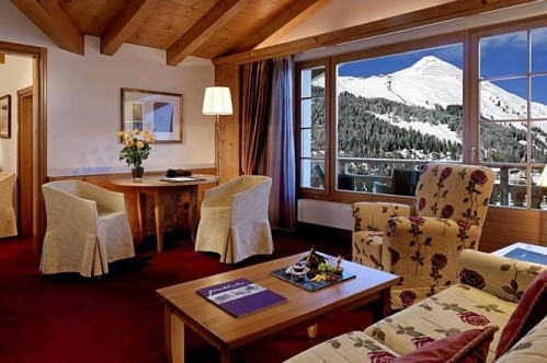 An example of a Junior Suite at the Sheraton Davos Hotel Waldhuus
