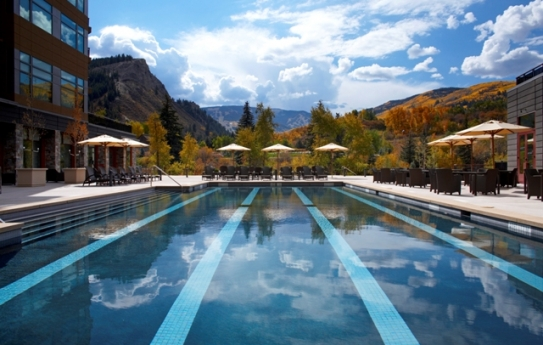 The lap pool at the Westin Riverfront Resort & Spa in Avon near Beaver Creek