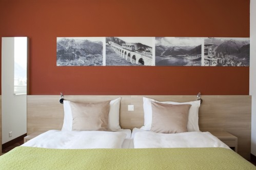 A Double Room in the Hotel Ochsen 2 in Davos - Switzwerland