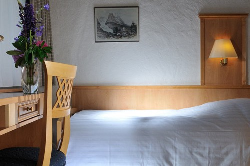 A Single Room in the Hotel Kreuz und Post, Grindelwald, Switzerland