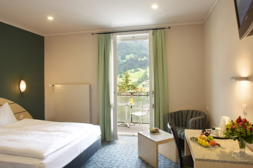 A Twin Room in the Belvedere Swiss Q Hotel, Grindelwald, Switzerland
