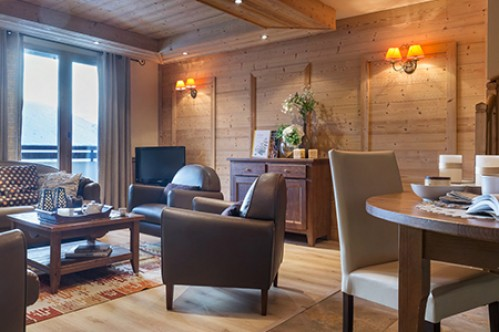 Two Bedroom Cabin Apartment - Residence L'Oxalys - Val Thorens - France