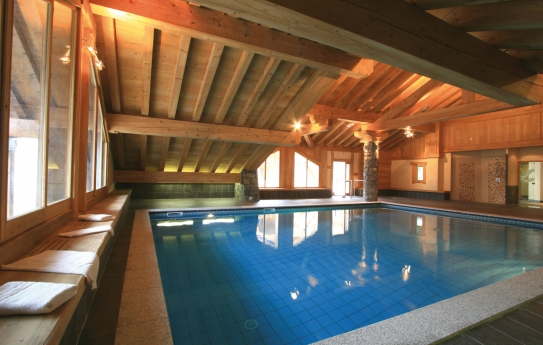 The pool of Lagrange Prestige Les Alpages de Champagny, Champagny-en-Vanoise, France