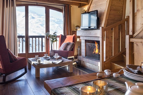 A Three Bedroom Apartment with Sauna - Residence L'Oxalys - Val Thorens - France