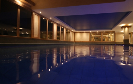 The indoor heated swimming pool in Le Village de Lessy, Le Grand-Bornand/ Chinaillon, France