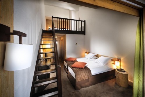 Hotel L'Aigle des Neiges - Quadruple room; Copyright: P LEROY