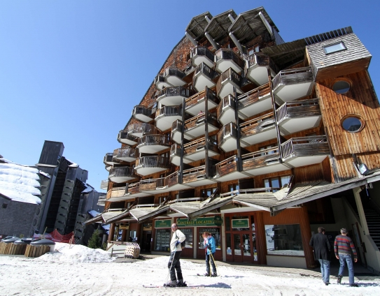 An example of where the residence Tilia is situated in Avoriaz