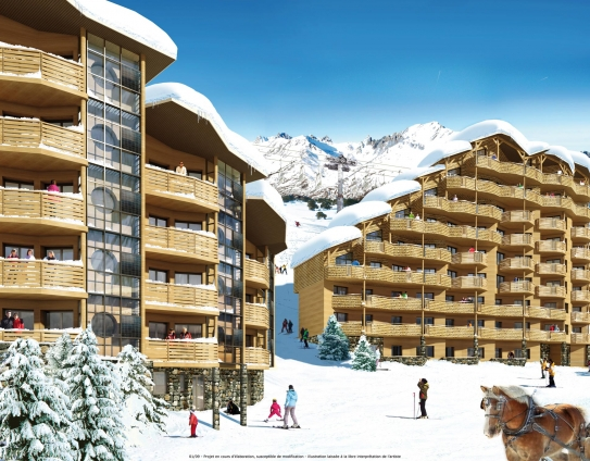 An idea of how the Les Crozats building may look once finished, Avoriaz, France