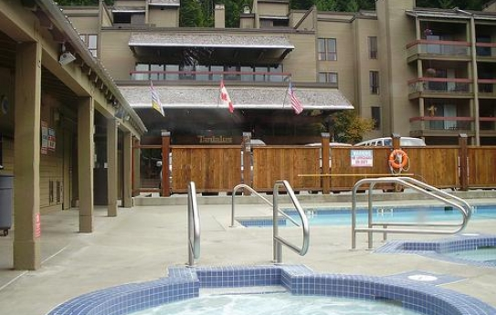 The Swimming Pool and Hot Tub - Tantalus Lodge - Whistler