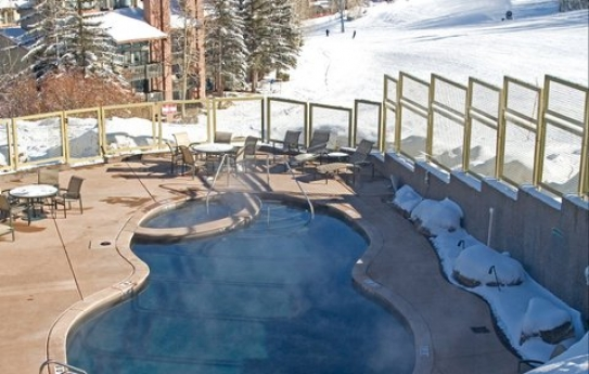 A View of the Fantastic Swimming Pool at the Timberline Condominiums in Aspen Snowmass - USA