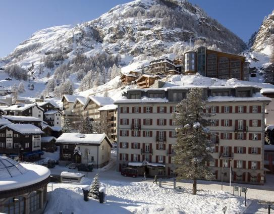 Outside View of the Hotel Monte Rosa - Zermatt