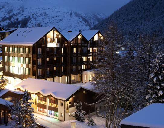 The exterior of the Best Western Grand Hotel Metropol in Saas Fee