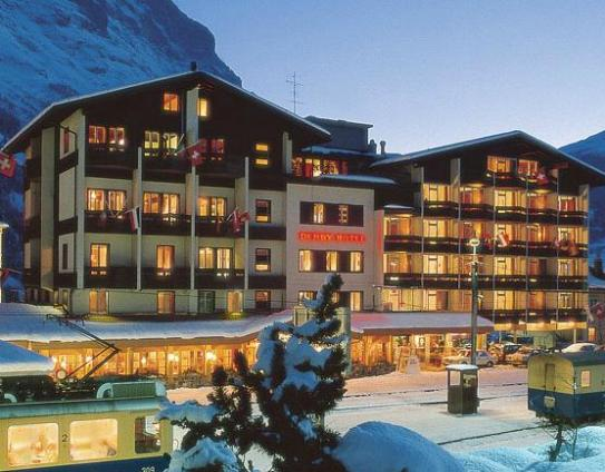 Outisde the Hotel Derby - Grindelwald
