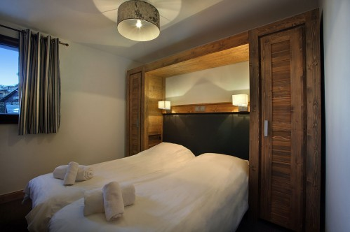 Twin beds in Arolles Les Arcs