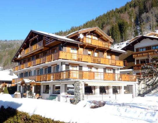 The Exterior of the Hotel Alpina - Morzine - France