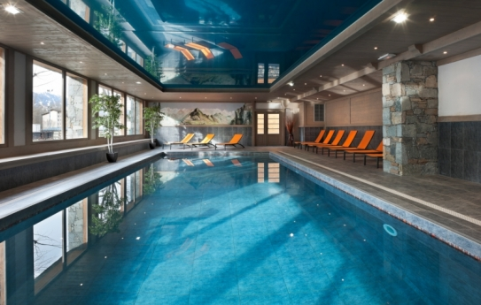 The Swimming Pool - Residence Le Coeur d'Or - Bourg St Maurice - Les Arcs - France; Copyright: MGM
