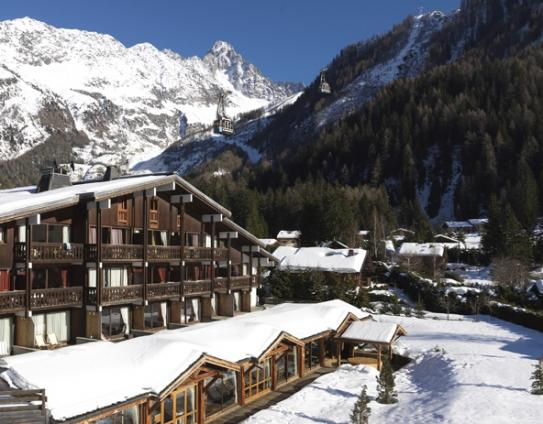 The Exterior of Hotel Les Grands Montets - Argentiere - France