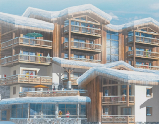 An artist's impression of the exterior of Le Lodge Hemera - La Rosiere - France