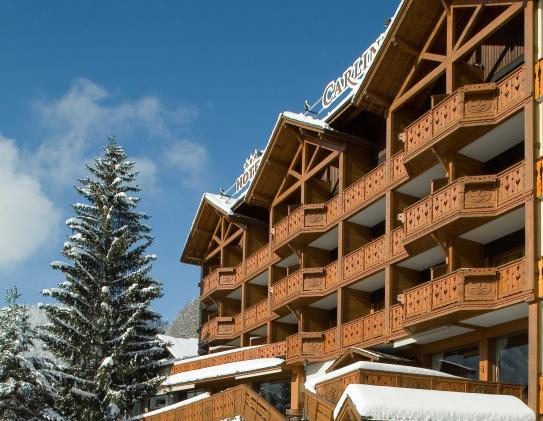Balconies of the Hotel Carlina in La Clusaz